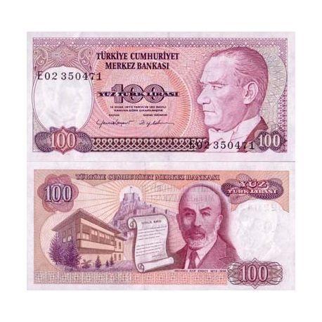 Billets de collection Billet de collection Turquie Pk N° 194 - 100 Lira Billets de Turquie 2,00 €
