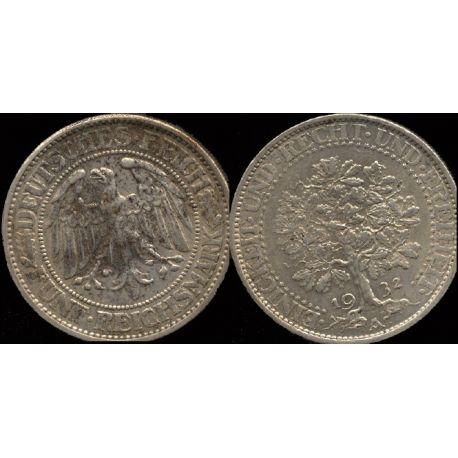 Piéce Allemagne : Arbre - 5 Reichmark 1932