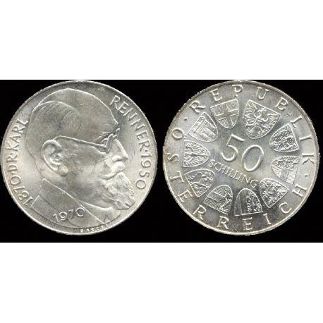 Piéce Autriche : Karl Renner - Pt de la République 1945/50