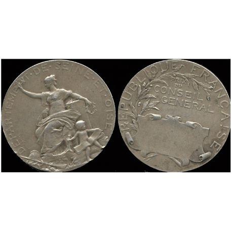 Médaille argent : Conseil général - Seine et Oise