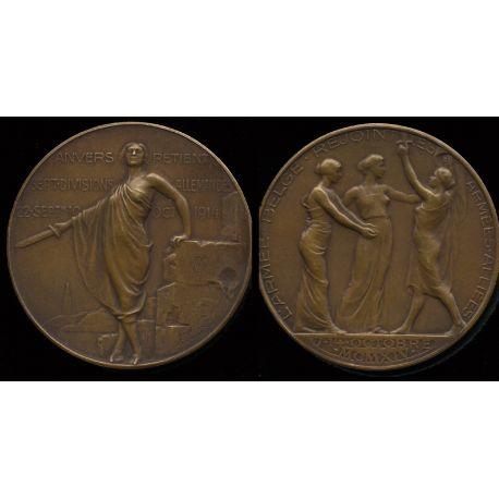 Médaille bronze : Armée - La Begique