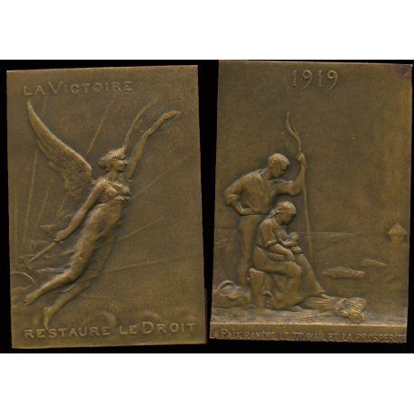 Médaille bronze : La victoire - Travail et prospérité