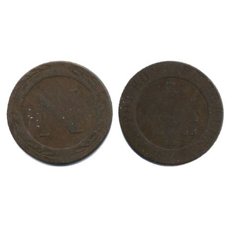 Piéce France : Strasbourg - 5 Cts 1808 BB