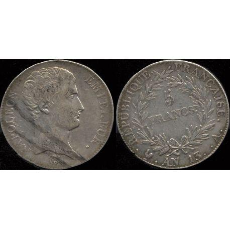 Piéce France : Napoléon Emperur - 5 Francs An 13 Paris