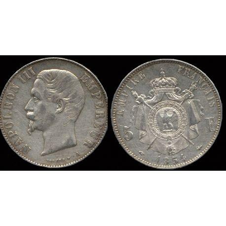 Piéce France : Napoléon III - 5 Francs 1854 Paris