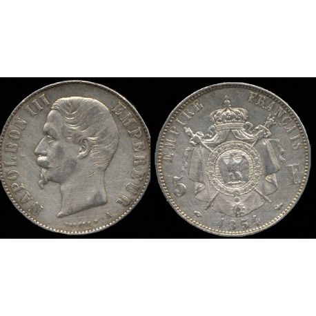 Piéce France : Napoléon III - 5 Francs 1854 Paris