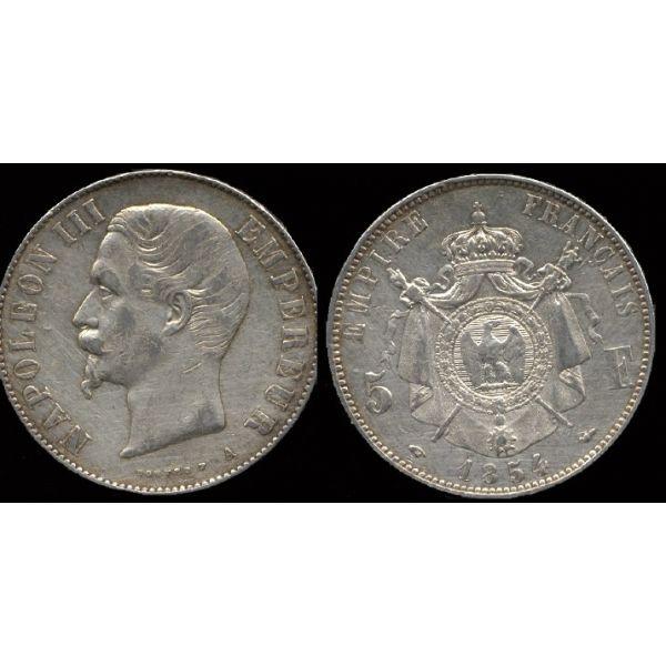 Münzen Münzen Frankreich Napoleon Iii 5 Francs 1854 Paris