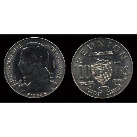 Piéce Colonie Française : Réunion - 100 Francs 1964 Essai