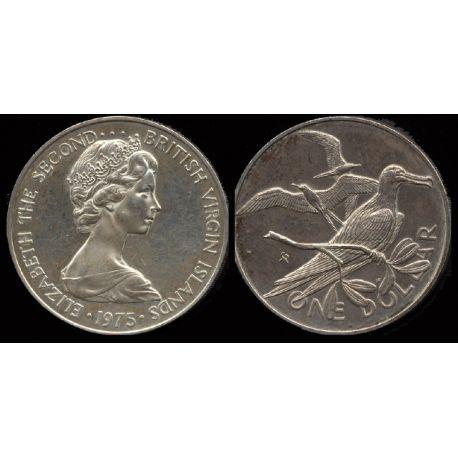 Piéce Iles Vierges : Frégate - 1 dollar argent 1975