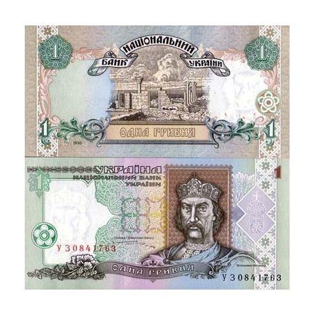 Billets de collection Billets banque Ukraine Pk N° 108 - 1 Hryvnia Billets d'Ukraine 4,00 €