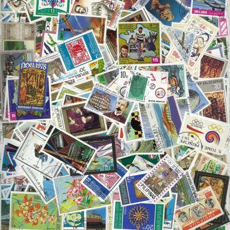 Tous Pays - Lots de 10000 timbres différents