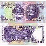 Precioso de billetes Uruguay Pick número 61 - 50 Peso