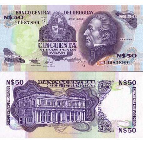 Billet de banque Uruguay Pk N° 61 - 50 N.Pesos