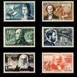 Serie francobolli di Francia N ° 1012/1017 Nuevo non linguellato