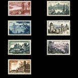 Serie francobolli di Francia N ° 1036/1042 Nuevo non linguellato