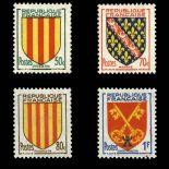 Timbres France Série N° 1044/1047 neuf sans charnière