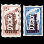 Timbres France Série N° 1076/1077 neuf sans charnière
