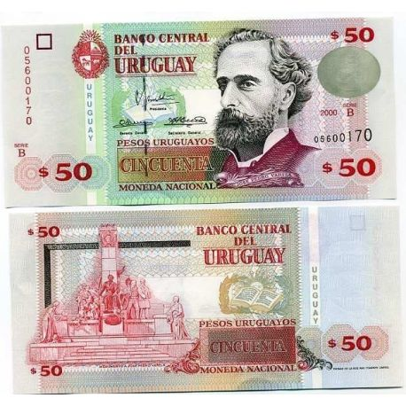Billet de collection Uruguay Pk N° 75 - 50 PESOS