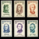 Serie francobolli di Francia N ° 1082/1087 Nuevo non linguellato