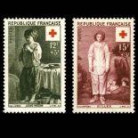 Serie Sellos de Francia N ° 1089/1090 nuevos sin charnela