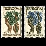 Stamps series of France N° 1122/1123 Mint NH