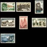 Briefmarken Reihe von France N ° 1125/1131 Postfrisch