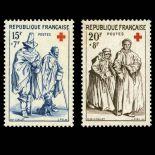 Briefmarken Reihe von France N ° 1140/1141 Postfrisch
