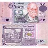 Billets de banque Uruguay Pk N° 81 - 10 N.Pesos