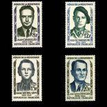 Serie francobolli di Francia N ° 1157/1160 Nuevo non linguellato
