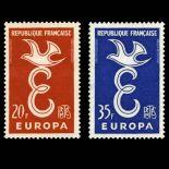 Serie francobolli di Francia N ° 1173/1174 Nuevo non linguellato