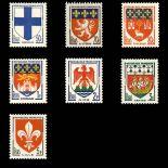 Timbres France Série N° 1180/1186 neuf sans charnière