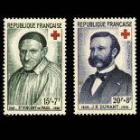 Serie francobolli di Francia N ° 1187/1188 Nuevo non linguellato