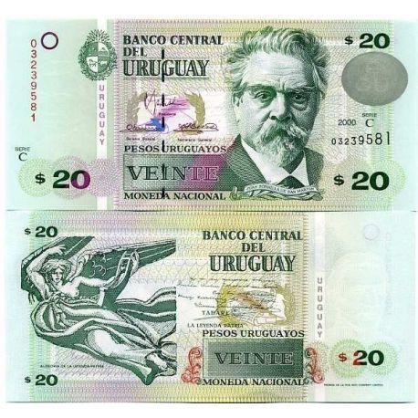 Uruguay - Pk N° 74 - Billet de 20 PESOS