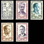 Briefmarken Reihe von France N ° 1198/1202 Postfrisch