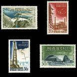 Serie francobolli di Francia N ° 1203/1206 Nuevo non linguellato