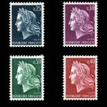 Serie Sellos France N ° 1535 / 1536B nuevos sin charnela