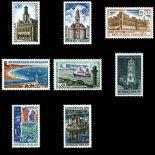 Serie francobolli di Francia N ° 1499/1506 Nuevo non linguellato