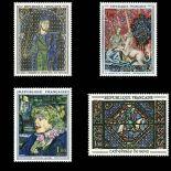 Serie francobolli di Francia N ° 1424/1427 Nuevo non linguellato