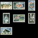 Briefmarken Reihe von France N ° 1390 / 1394A Postfrisch