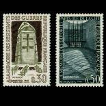 Serie Sellos de Francia N ° 1380/81 nuevos sin charnela