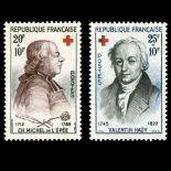 Timbres France Série N° 1226/1227 neuf sans charnière
