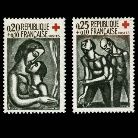 Timbres France Série N° 1323/1324 neuf sans charnière