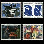 Timbres France Série N° 1319/1322 neuf sans charnière