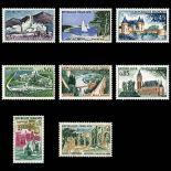 Serie Sellos de Francia N ° 1311/1318 nuevos sin charnela