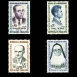 Stamps series of France N° 1288/1291 Mint NH