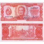 Billet de collection Uruguay Pk N° 47 - 100 Pesos