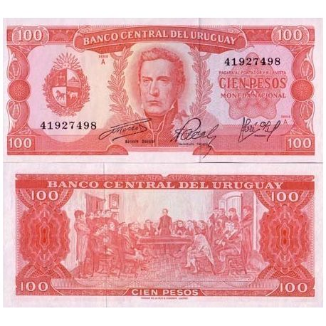 Billet de collection Uruguay Pk N° 47 - 100 Pesos