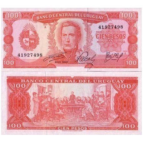 Uruguay - Pk N° 47 - Billet de 100 Pesos