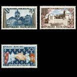 Briefmarken Reihe von France N ° 1221/1223 Postfrisch