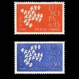 Briefmarken Reihe von France N ° 1309/1310 Postfrisch